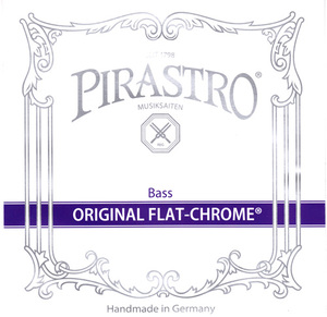 Pirastro Original Flat Chromesteel Bass String, A or B Solo