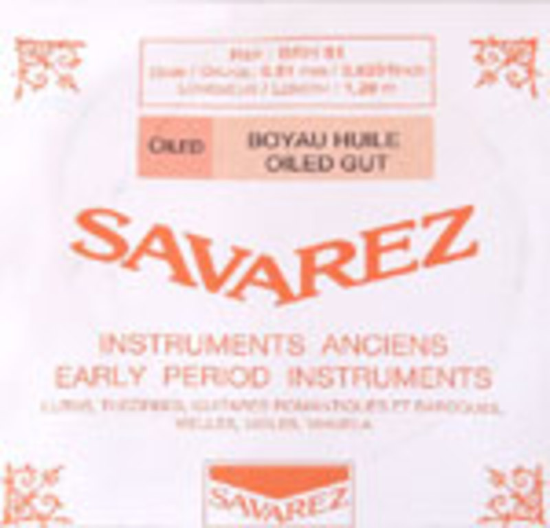 Image of Baroque Violin strings by Savarez, France. SET