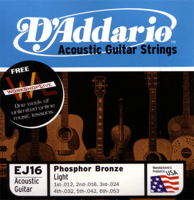 d 39 addario acoustic guitar strings phosphor bronze d 39 addario. Black Bedroom Furniture Sets. Home Design Ideas