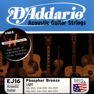 D'Addario Acoustic Guitar Strings, Phosphor Bronze