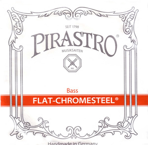 Pirastro Flat Chromesteel Double Bass String, D or E Solo