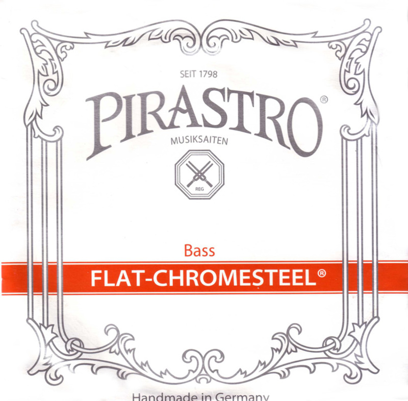 Image of Pirastro Flat-Chromesteel Double Bass String. Low B