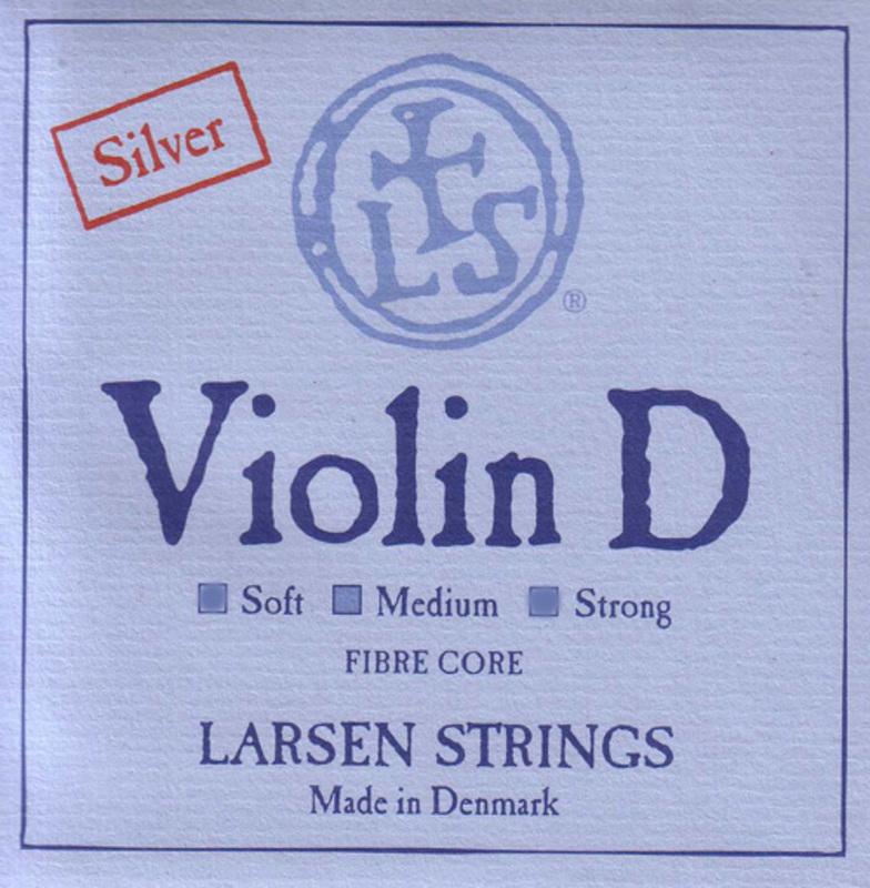 Image of Larsen Violin String, D Silver