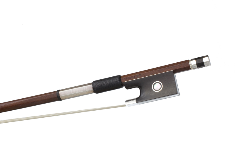 Image of Silver and Ebony Mounted Violin Bow by J.S. Finkel, Switzerland