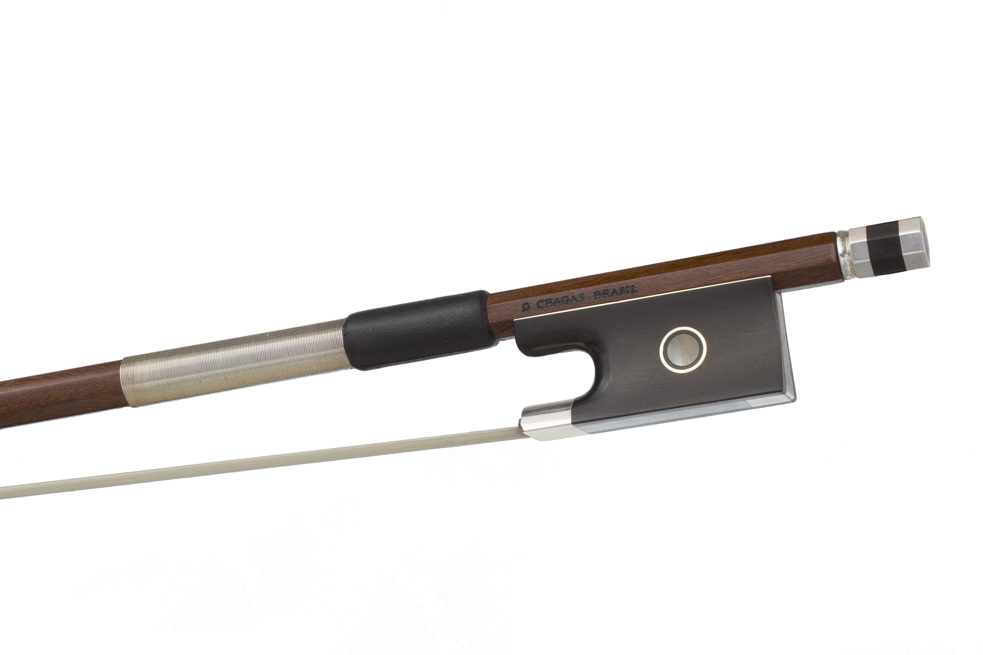silver mounted violin bow by d chagas brazil. Black Bedroom Furniture Sets. Home Design Ideas