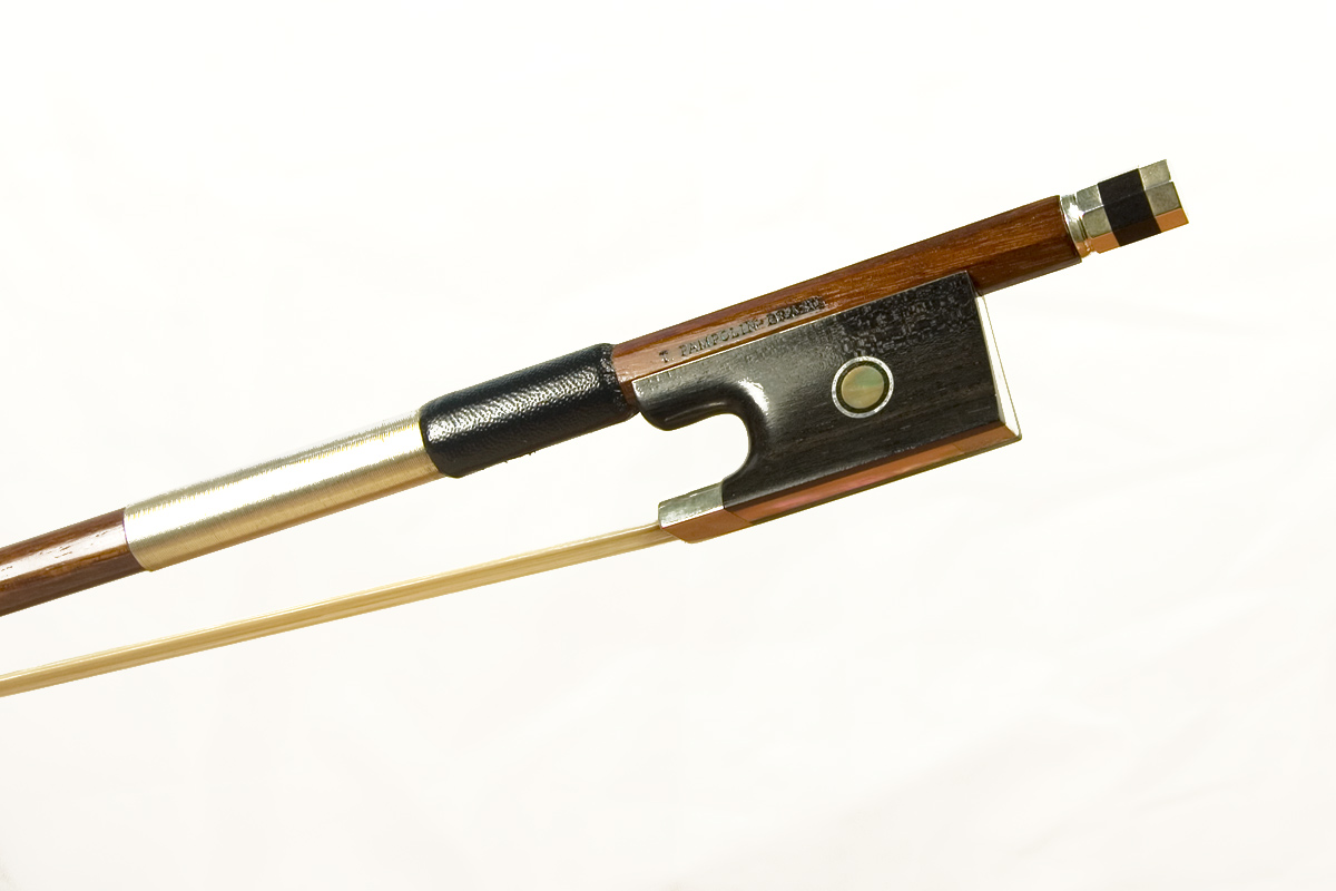 silver mounted violin bow by t pampolin brazil. Black Bedroom Furniture Sets. Home Design Ideas