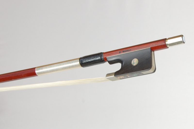 Image of Nickel Mounted Viola Bow by Georg Werner, Germany