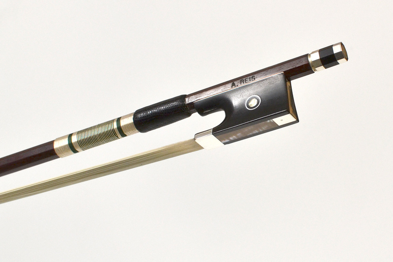 Image of Silver and Ebony Mounted Violin Bow by R. Reiss