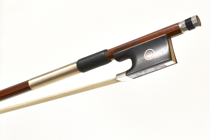 Image of Silver Mounted Violin Bow by V Schaeffer Brazil