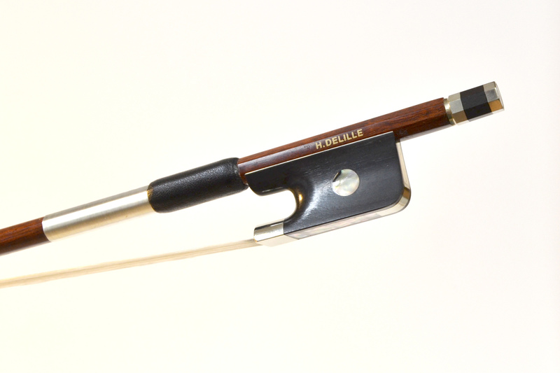 Image of Hybrid Carbon/Pernambuco Cello Bow by Delille