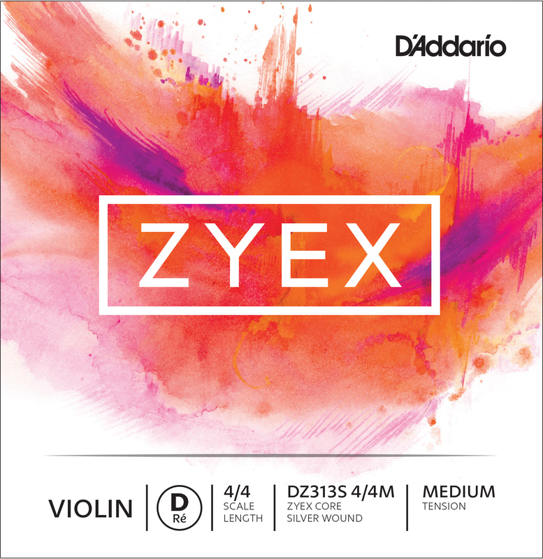 Image of Zyex Violin String, D Silver