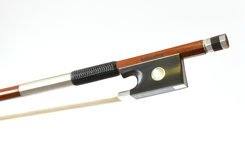 Image of Special Edition Silver Mounted Violin Bow by F. Schaeffer