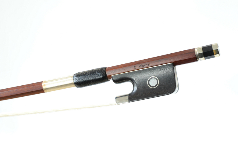 Image of Nickel Mounted Cello Bow G. Werner