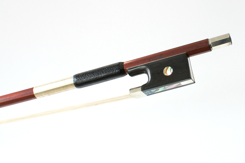 Image of NIckel and Ebony Mounted Violin Bow by P Hoyer