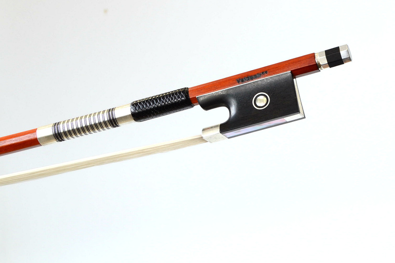 Image of Silver and Ebony Mounted Violin Bow by Sousa Bows, Brazil
