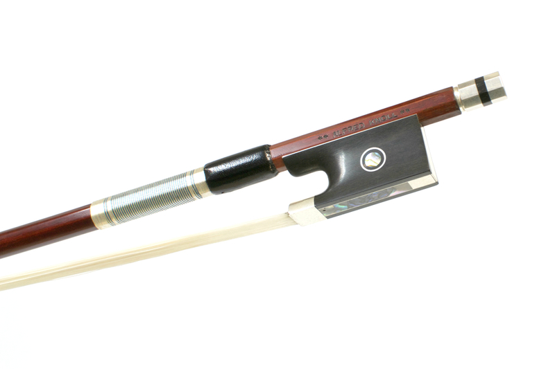 Image of 4* Silver Mounted Violin Bow by A Knoll, Germany