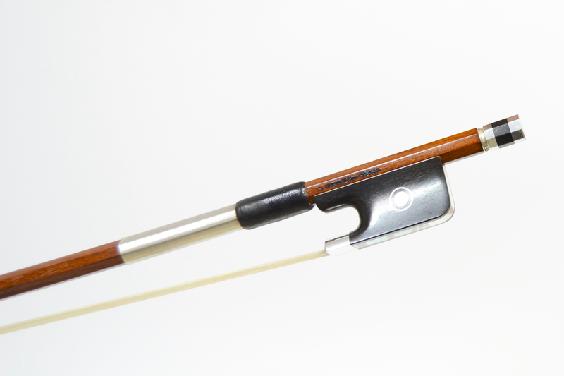 Image of Silver Mounted Viola Bow by A. Carvalho, Brazil