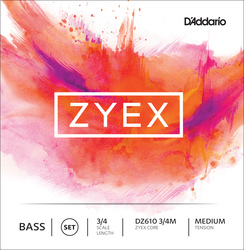 D'Addario Zyex Double Bass Strings, SET