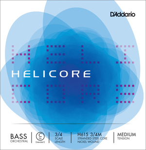 Helicore Double Bass String, Low C (Ext E)