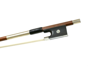 Nickel and Ebony Mounted Violin Bow by Ary France c. 1985