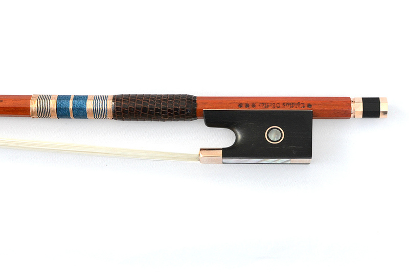 Image of 4* Gold Mounted Violin Bow by Egidius Dorfler, Germany